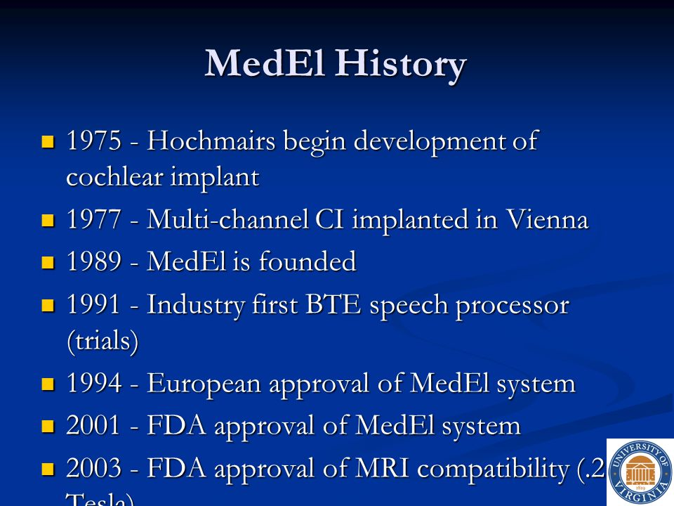 MedEl History 1975 - Hochmairs begin development of cochlear implant