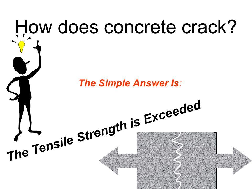 How does concrete crack