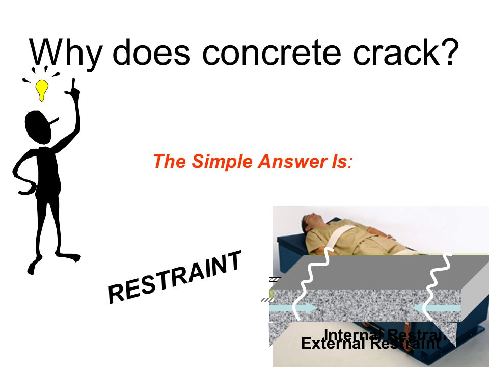 Why does concrete crack