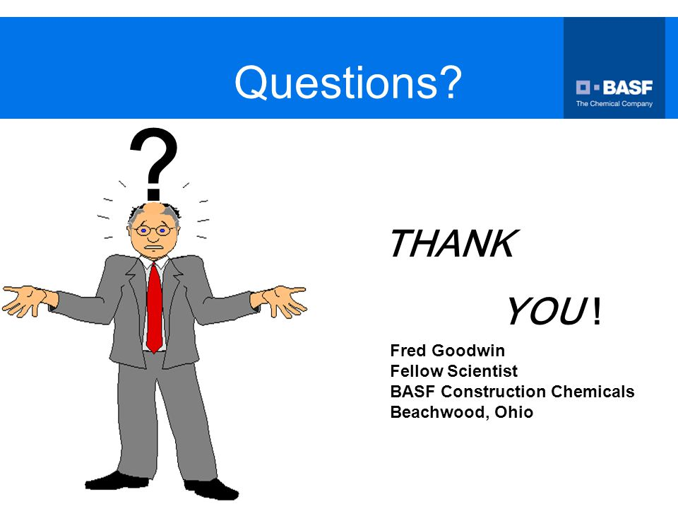 Questions THANK YOU ! Fred Goodwin Fellow Scientist