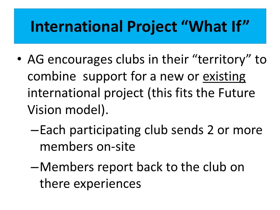 International Project What If