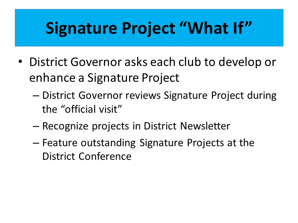 Signature Project What If