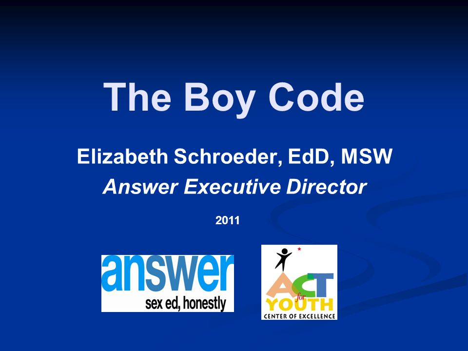 Elizabeth Schroeder, EdD, MSW Answer Executive Director