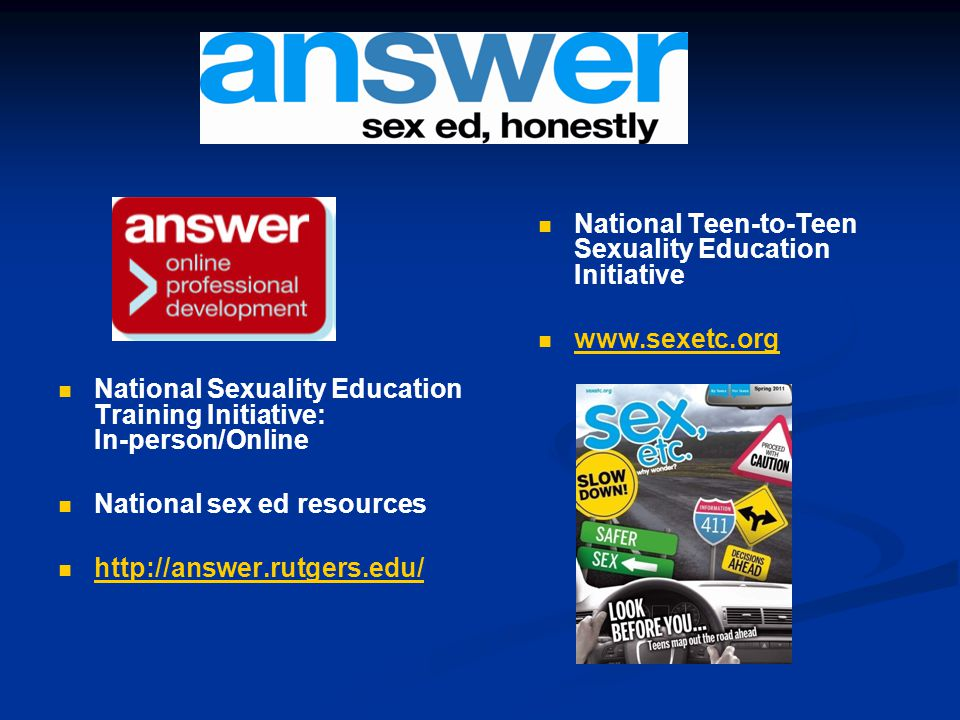 National Sexuality Education Training Initiative: In-person/Online