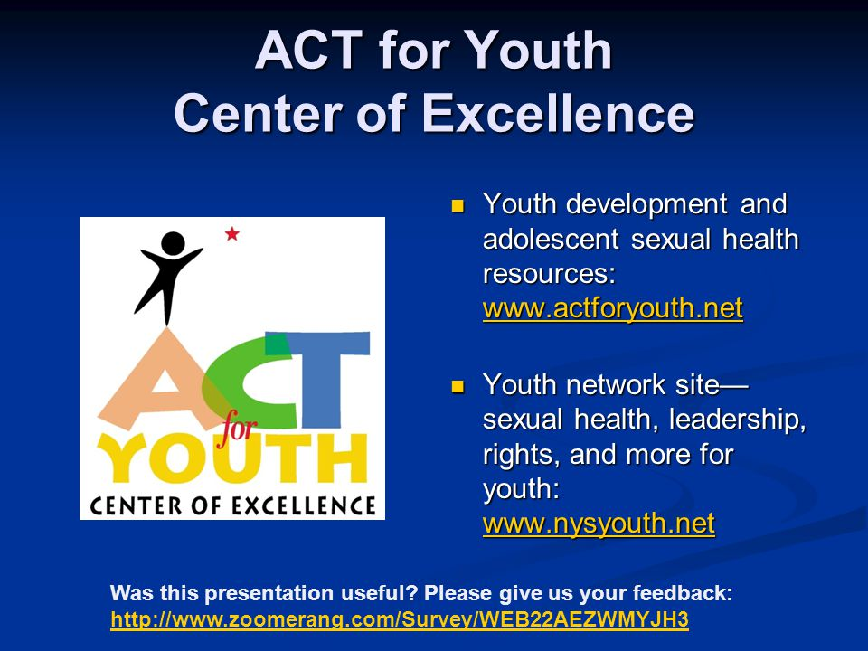 ACT for Youth Center of Excellence