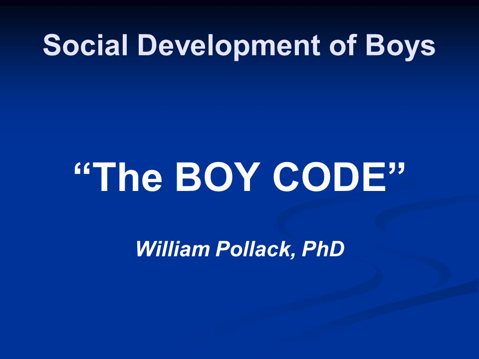 Social Development of Boys