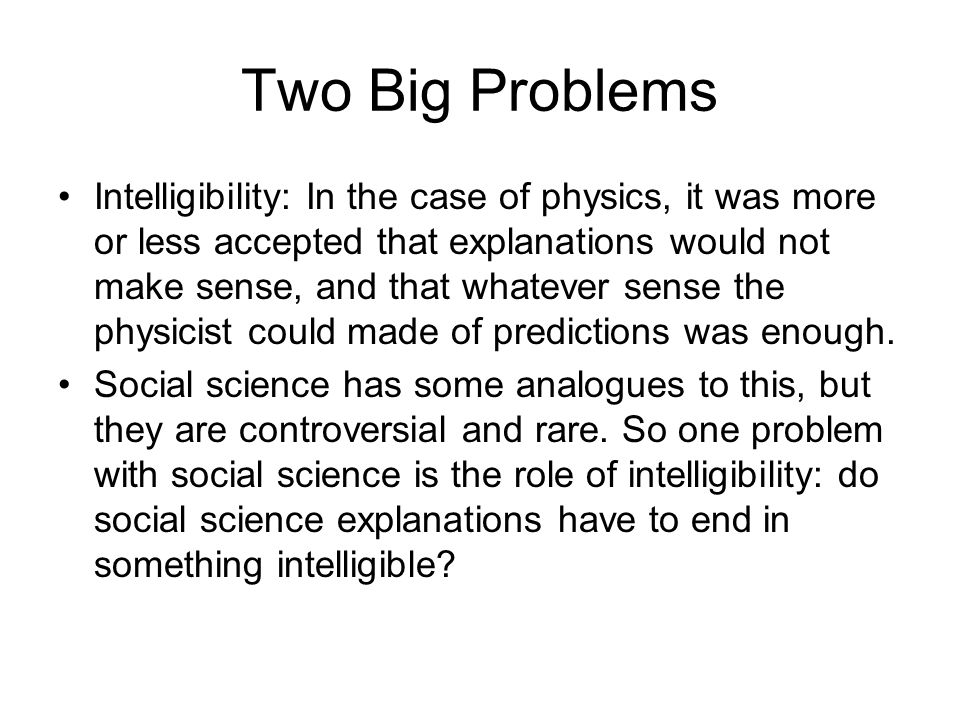 Two Big Problems