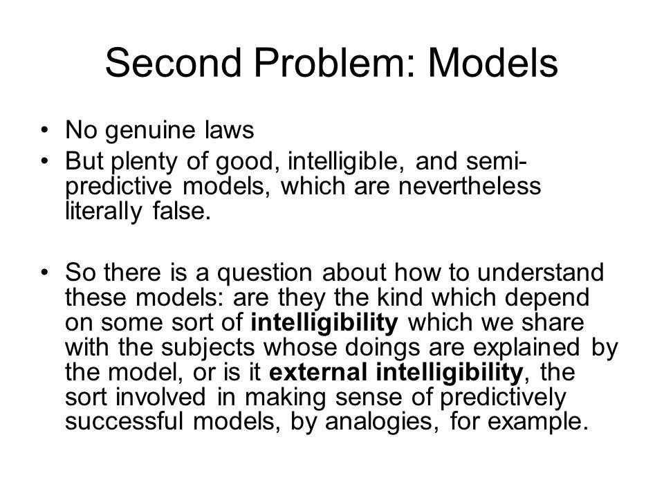 Second Problem: Models