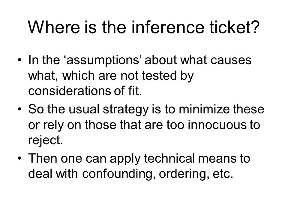 Where is the inference ticket