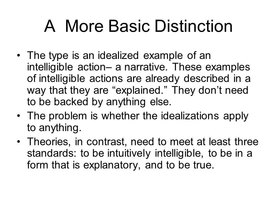 A More Basic Distinction
