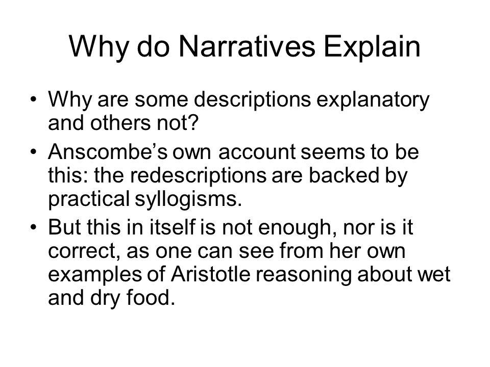 Why do Narratives Explain