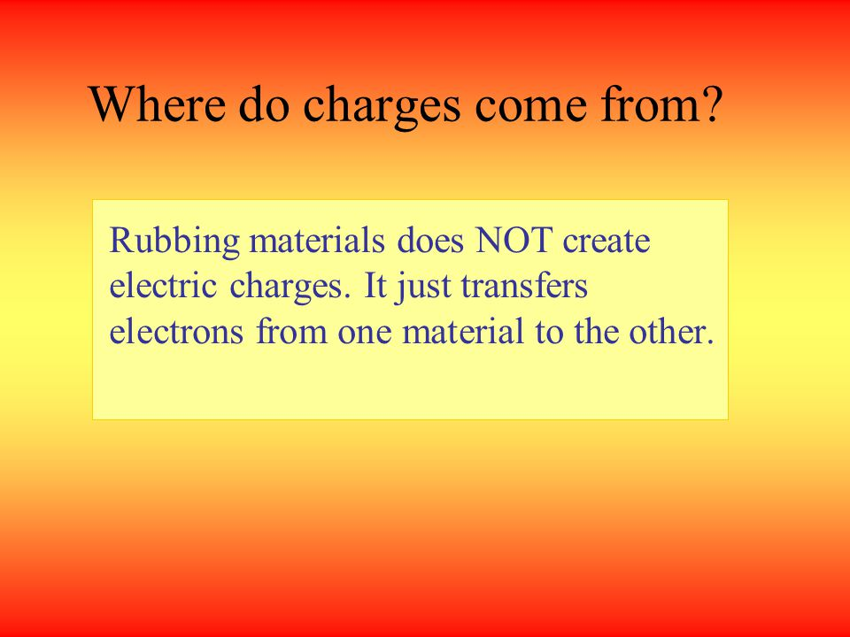 Where do charges come from