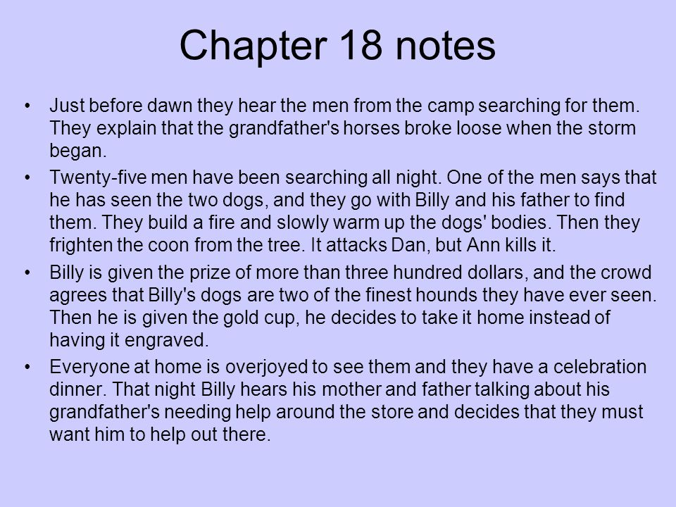 Chapter 18 notes