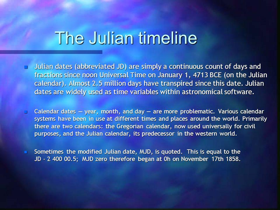The Julian timeline