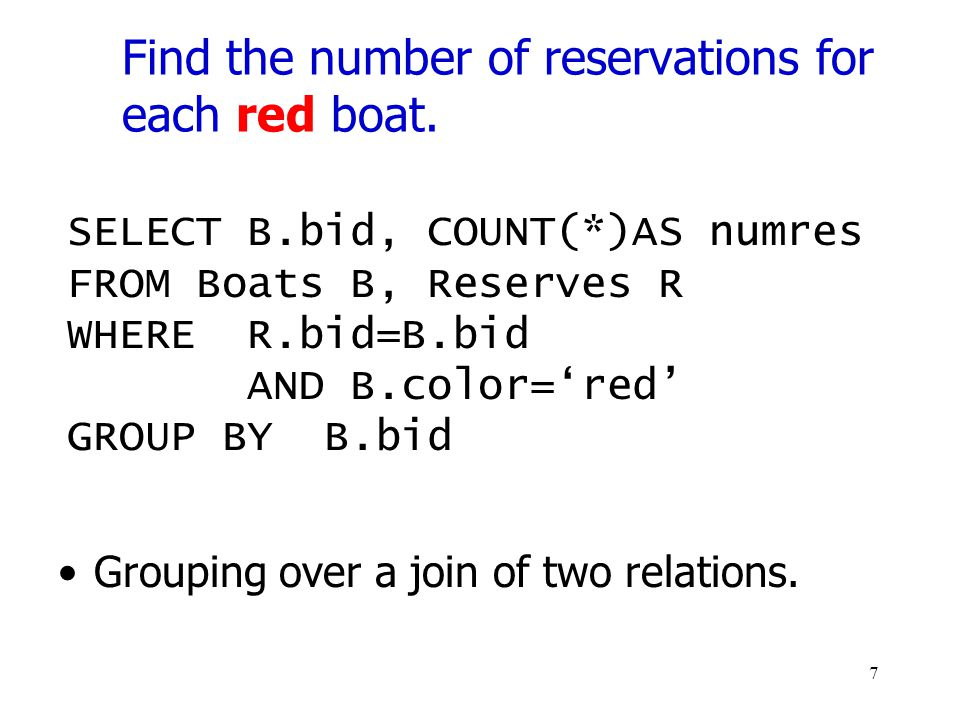 Find the number of reservations for each red boat.