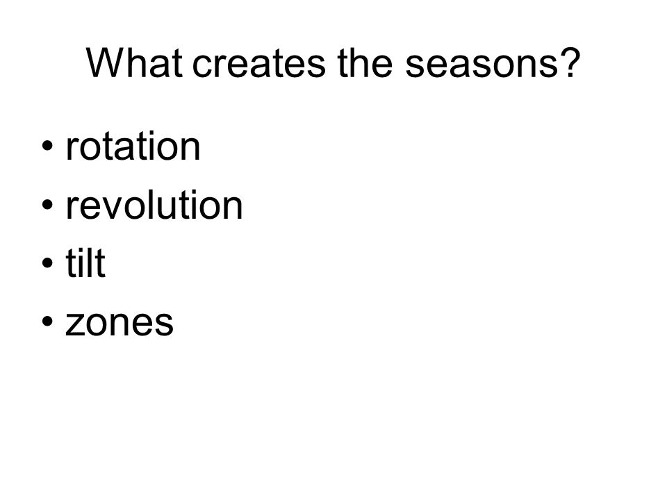 What creates the seasons