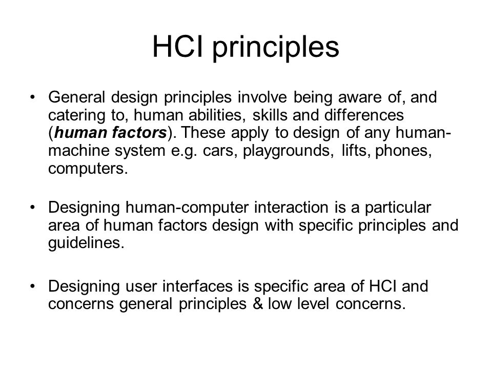 HCI principles