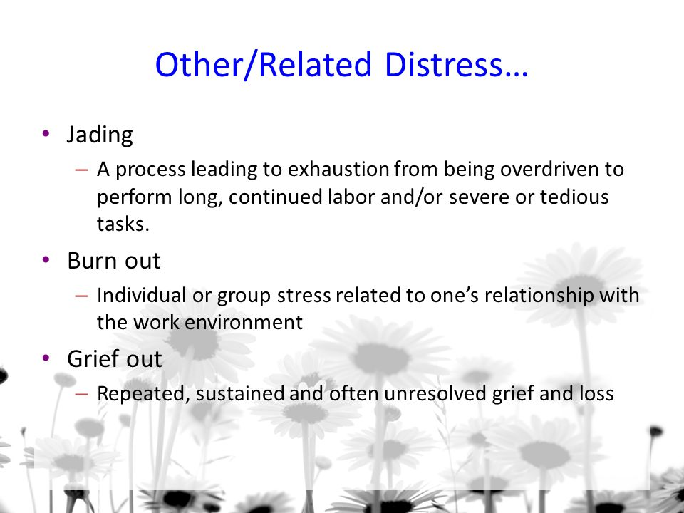 Other/Related Distress…