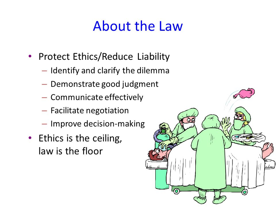 About the Law Protect Ethics/Reduce Liability