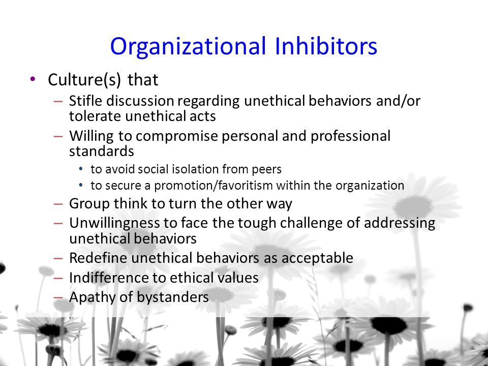 Organizational Inhibitors