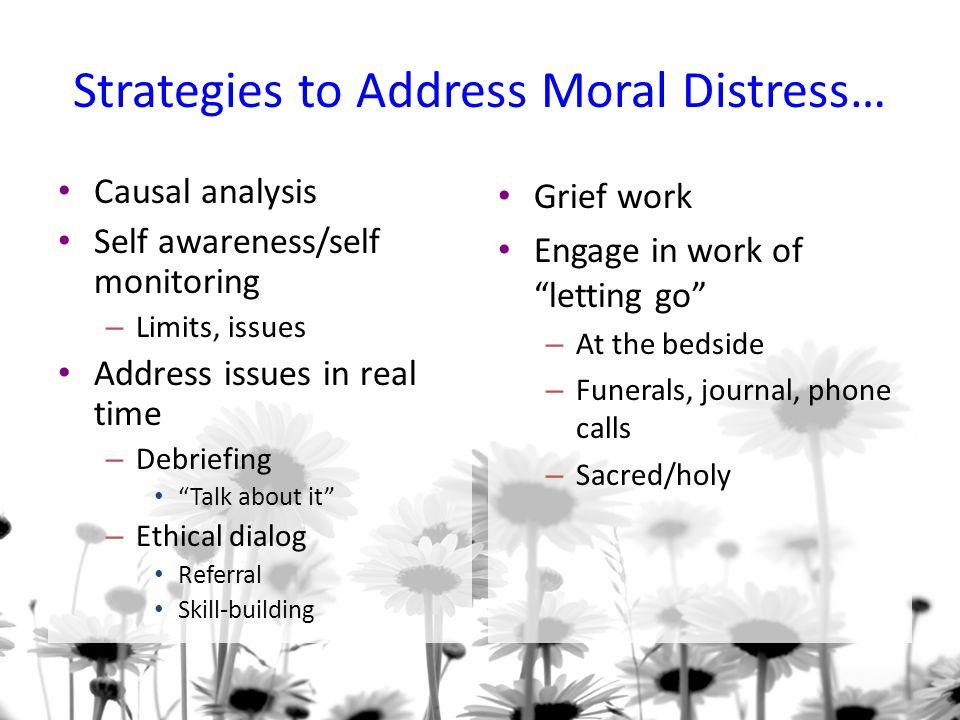 Strategies to Address Moral Distress…