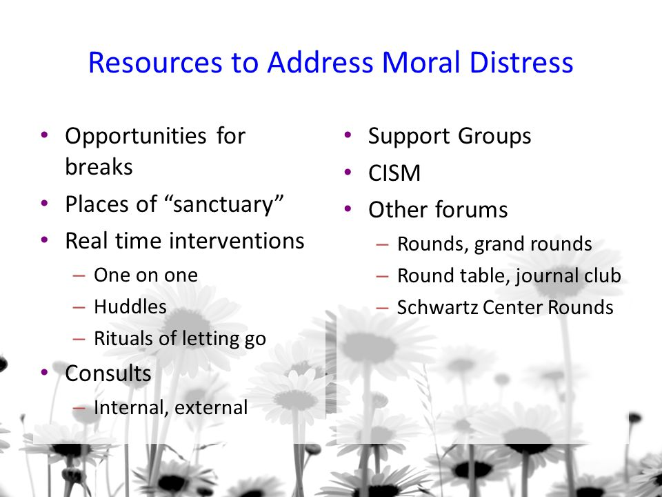 Resources to Address Moral Distress