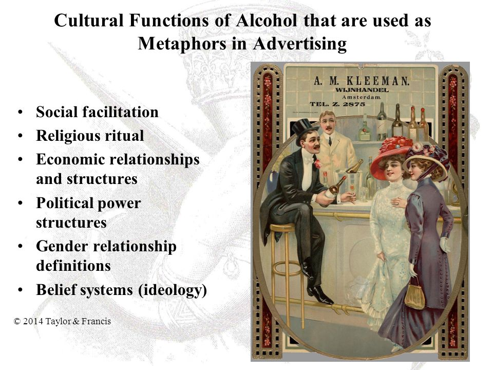 Cultural Functions of Alcohol that are used as Metaphors in Advertising