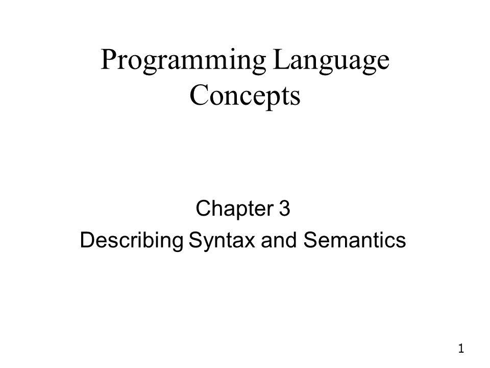 Programming Language Concepts