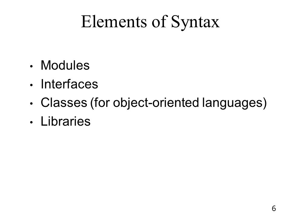 Elements of Syntax Modules Interfaces