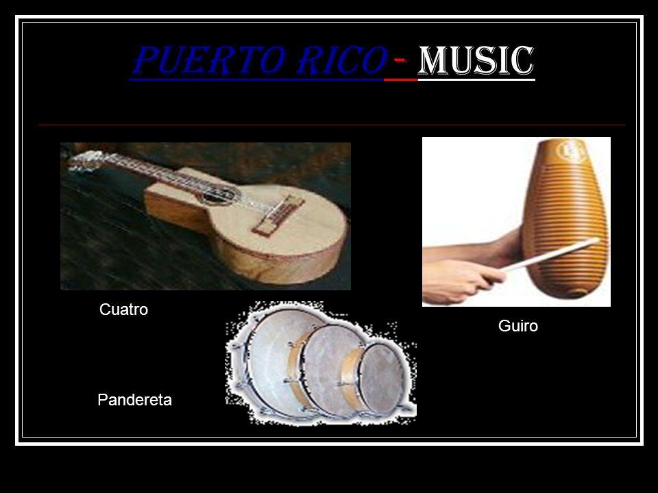 Puerto Rico - Music Cuatro Guiro Pandereta