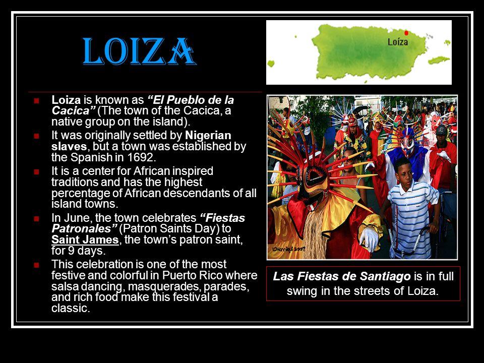 Las Fiestas de Santiago is in full swing in the streets of Loiza.