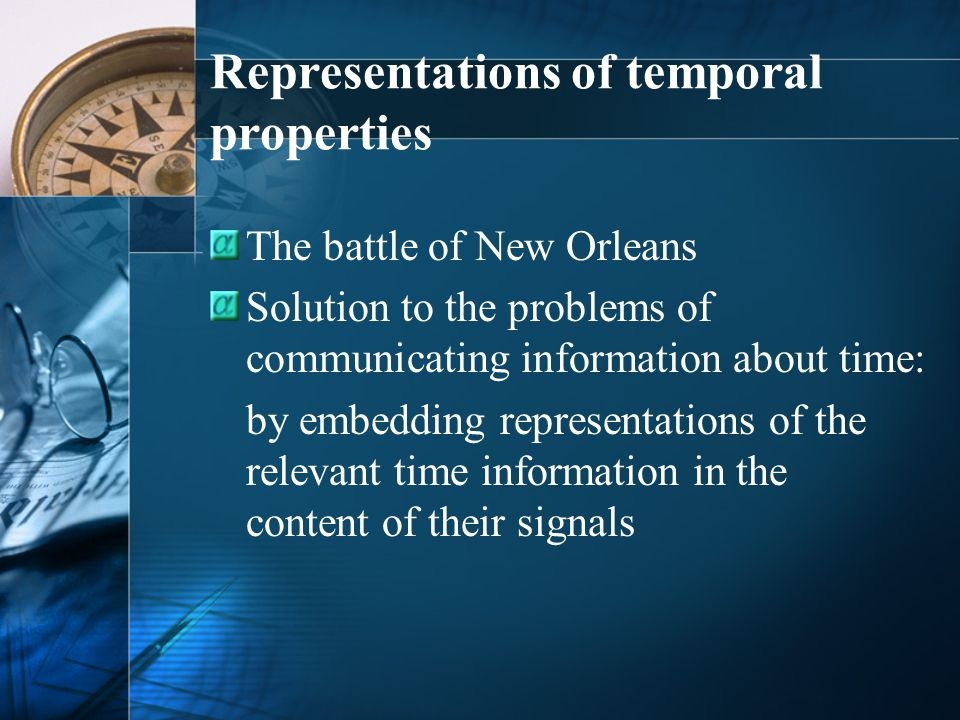 Representations of temporal properties