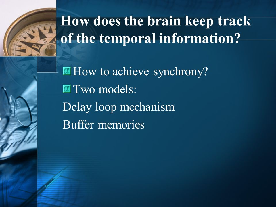 How does the brain keep track of the temporal information