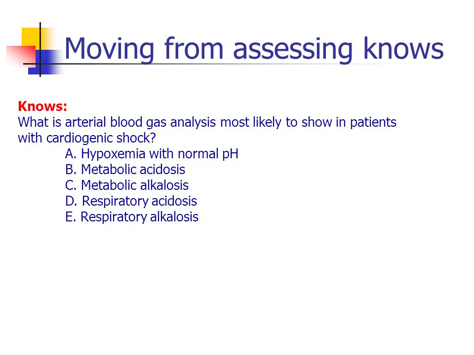 Moving from assessing knows