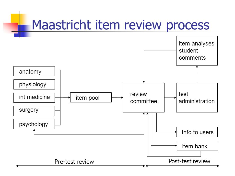 Maastricht item review process