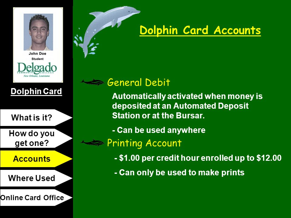 General Debit Printing Account