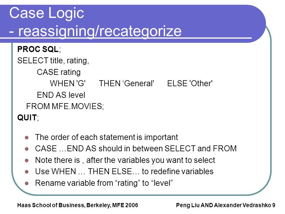 Case Logic - reassigning/recategorize