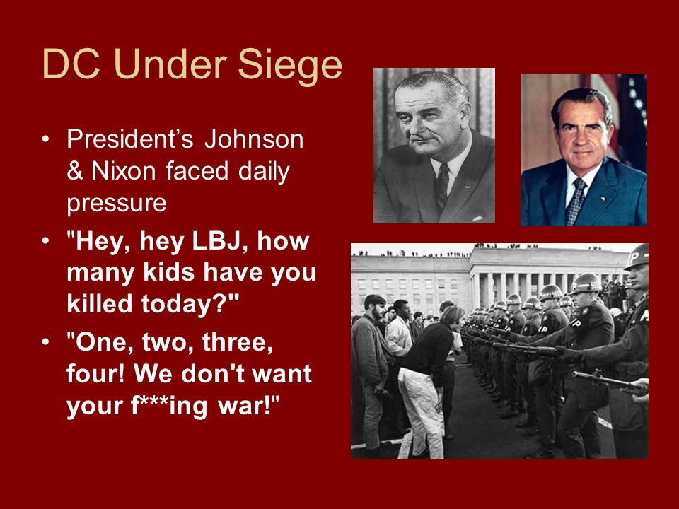 DC Under Siege President's Johnson & Nixon faced daily pressure