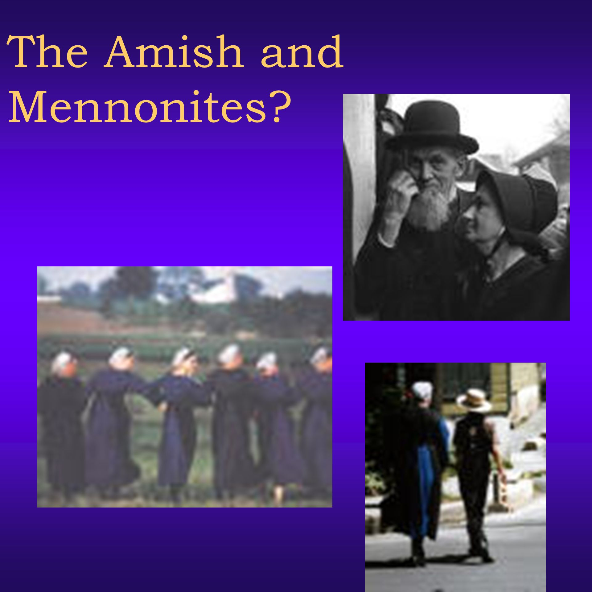 The Amish and Mennonites