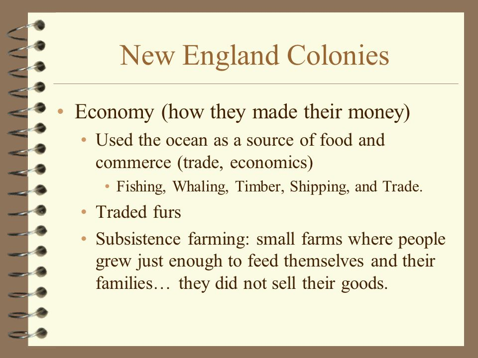 New England Colonies Economy (how they made their money)