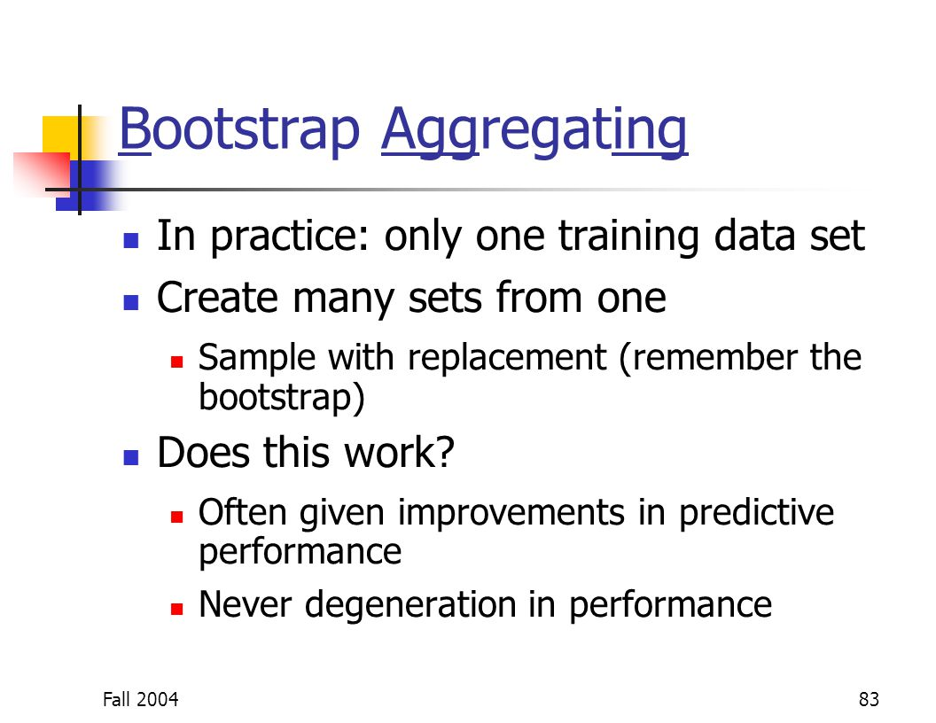 Bootstrap Aggregating