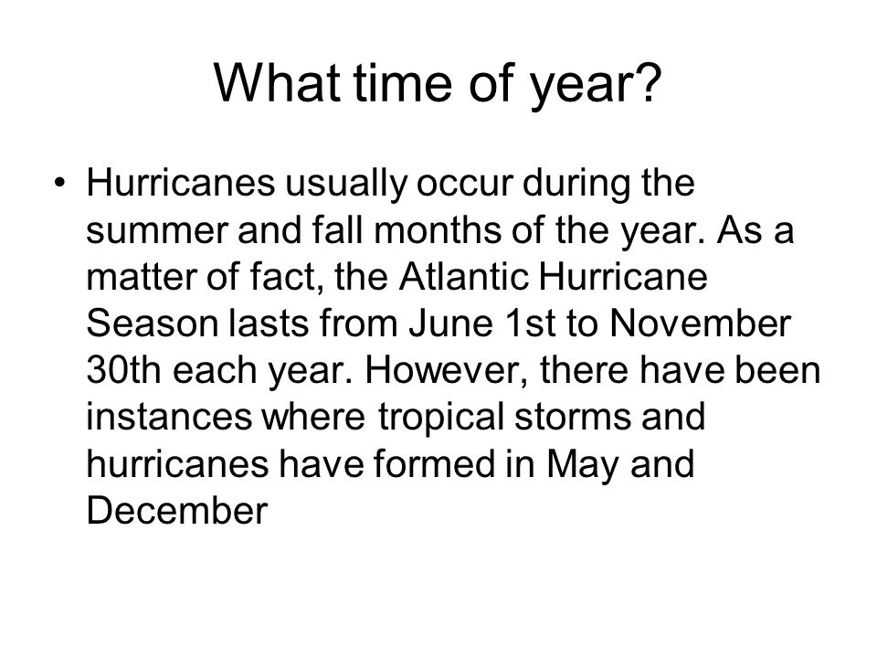 What time of year