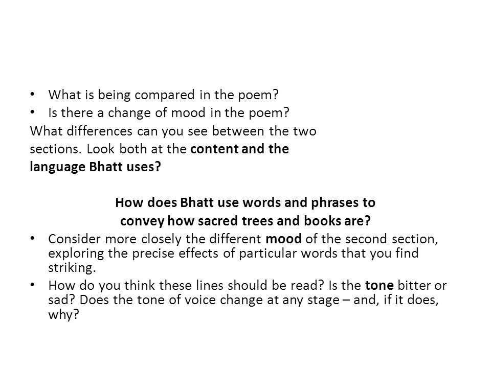 What is being compared in the poem
