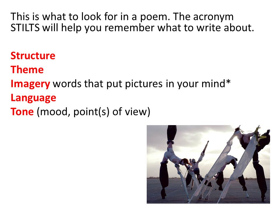 This is what to look for in a poem