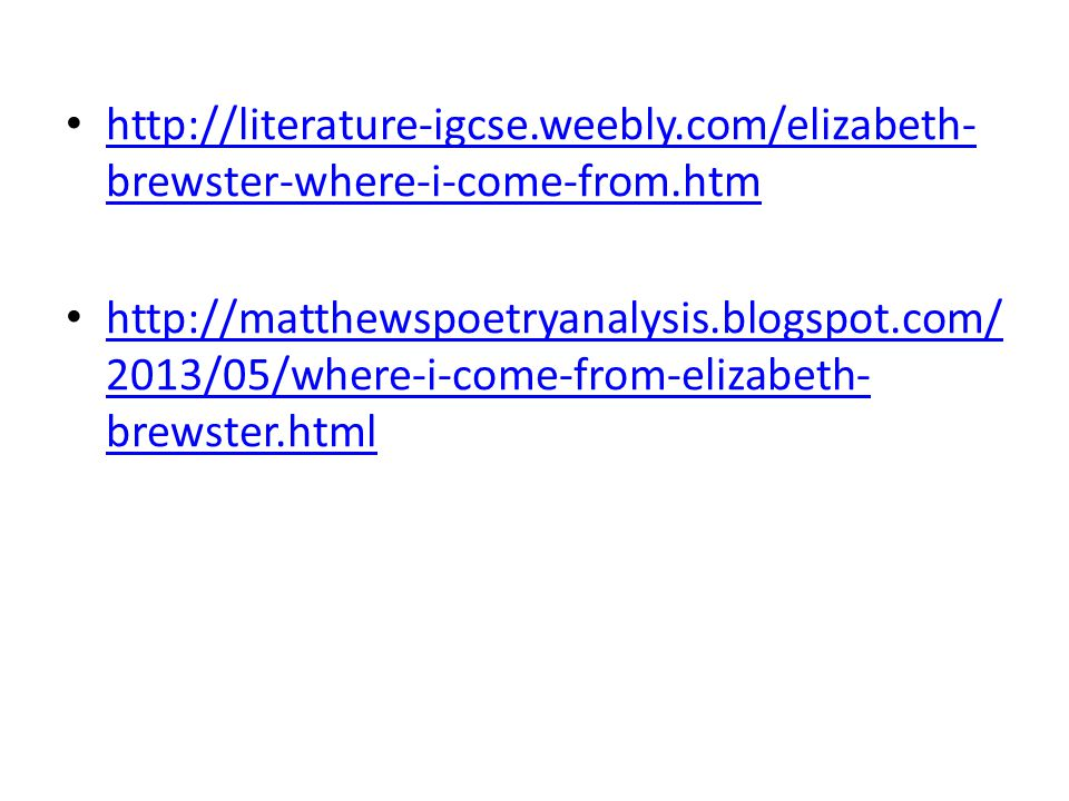 http://literature-igcse. weebly