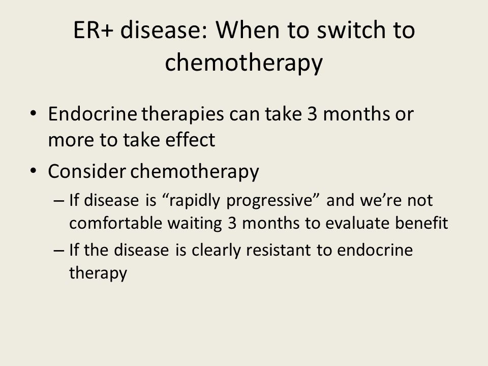 ER+ disease: When to switch to chemotherapy