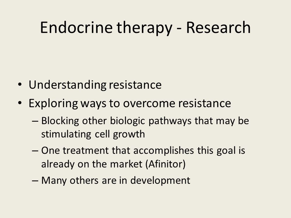 Endocrine therapy - Research