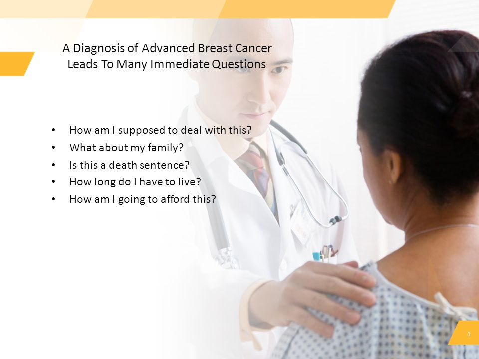 A Diagnosis of Advanced Breast Cancer Leads To Many Immediate Questions