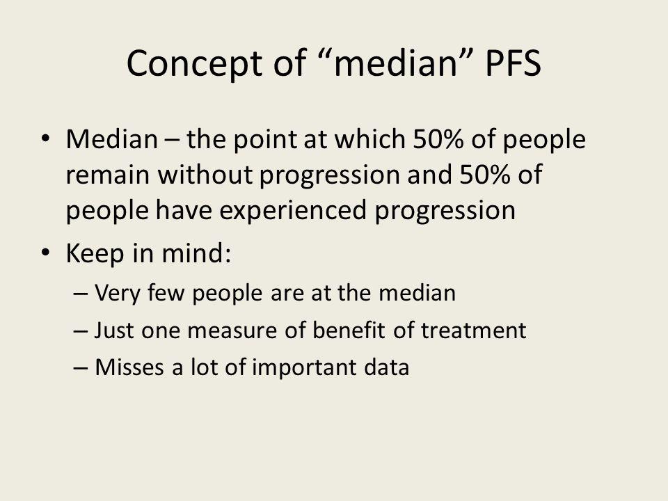 Concept of median PFS