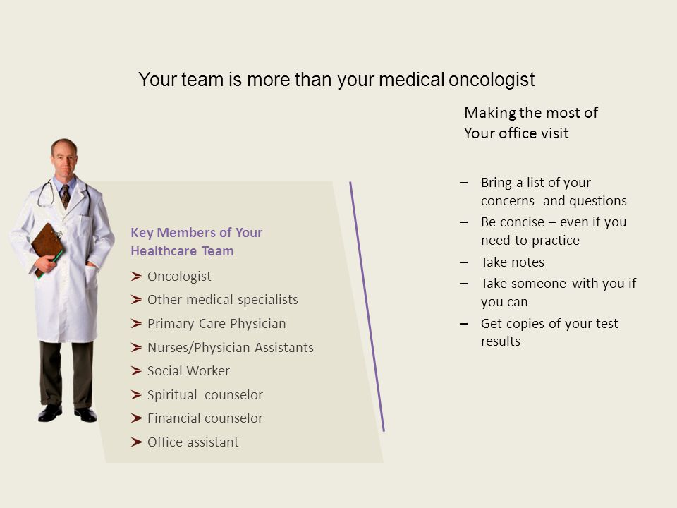 Your team is more than your medical oncologist